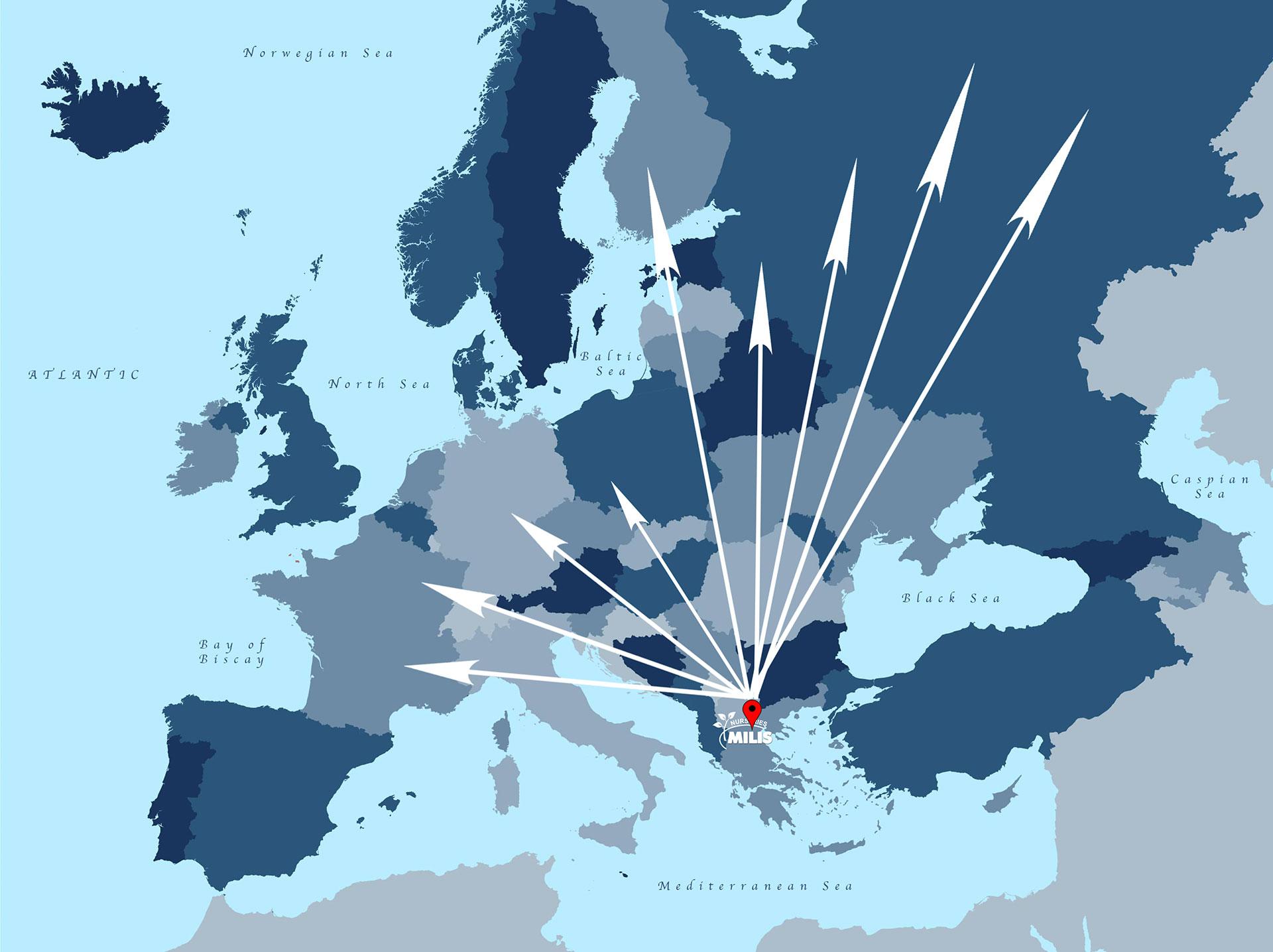 Αποστολή σε όλη την Ευρώπη